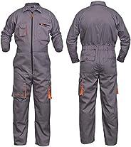 NORMAN Grey Work Wear Men's Overalls Boiler Suit Coveralls Mecha