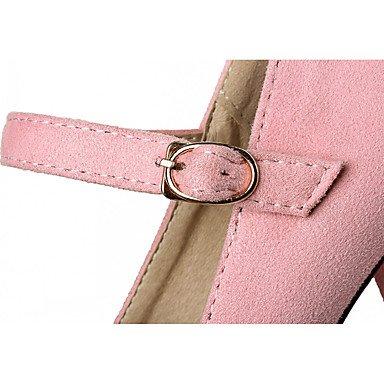 Talones de las mujeres Primavera Verano Otoño Invierno Comfort novedad de la PU de oficina y carrera boda sintético fiesta y noche vestido casual tacón de aguja Pink