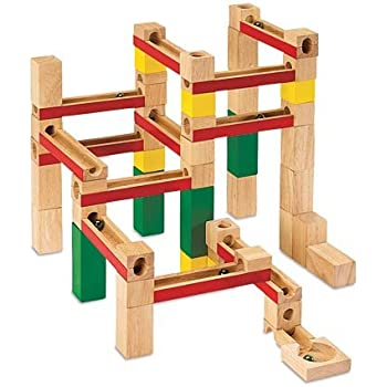 Amazon Com Deluxe Marble Run Set 66 Wooden Pieces With 6
