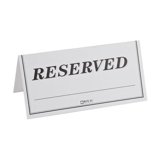 Pack of 250 Paper Table Reserved Sign for $<!--$21.72-->