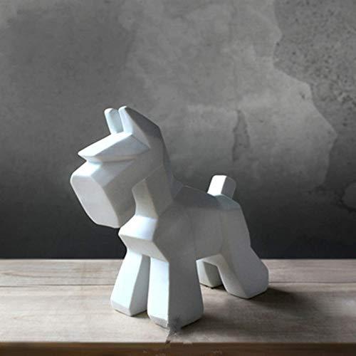 - JDSHSO Handmade Ceramic Crafts Pet Dog Statue Desktop Decoration Schnauzer Akita Sculpture
