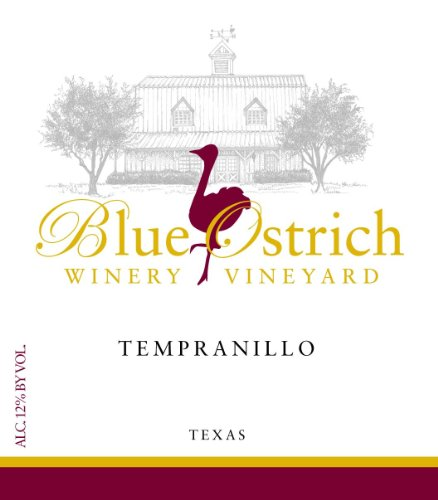2014 Blue Ostrich Winery & Vineyard Texas Tempranillo 750 mL - Was A Tempranillo Wine