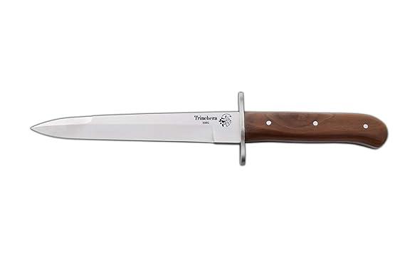 Cuchillo de Caza Trinchera Alemana Enterizo J&V con Mango de ...