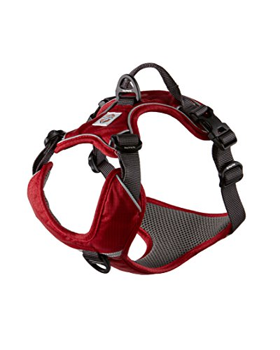 My Busy Dog Harness Vest | No Pull, Easy On/Off, Front/Back Metal Leash Attachments, Handle, Reflective, Secure Fit | Perfect for Small Medium Large Dogs | Size Chart in Pictures (XL, Red)