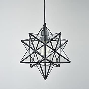 12 inch clear glass star light amazon yobo lighting transparent glass moravian star pendant chandelier 12 inch aloadofball