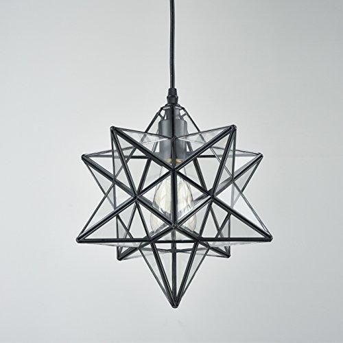Star Pendant Light Fixture Glass