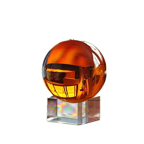 - Mbjfuw Crystal Glass Ball Amber Photography Earth No Scratch Magic Gem Ball Crafts (Color : Amber, Size : 100mm)
