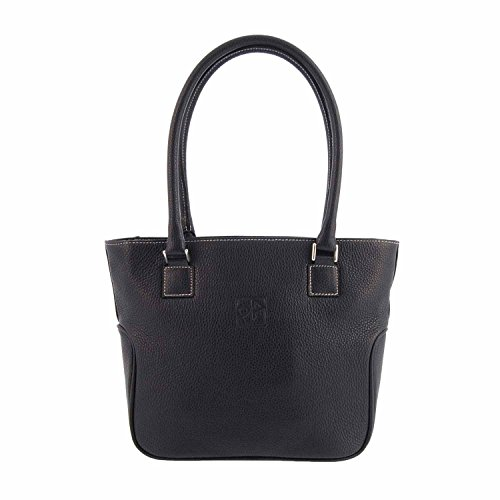 Sac Shopping Paula Alonso En Cuir Marine