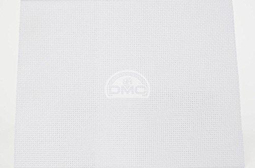 DMC Aida 5.5/cm - 100% Baumwolle - 35cm x 45cm - Weiß