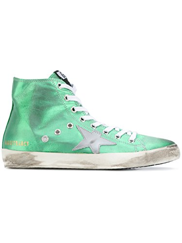 Golden Goose Ladies G31ws591a84 Sneakers Alte In Pelle Verde