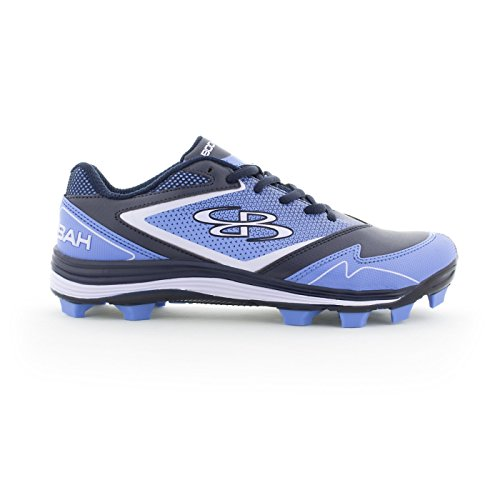 Boombah Women's A-Game Molded Cleats Navy/Columbia Blue - Size 10