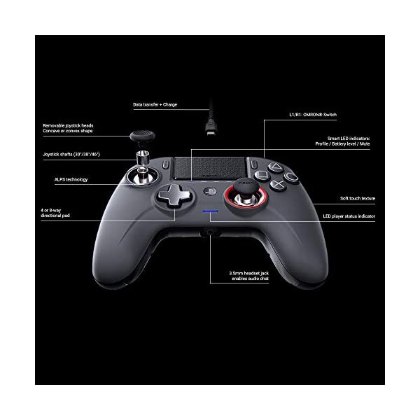 NACON Controller Esports Revolution Unlimited Pro V3 PS4 Playstation 4 / PC - Wireless/Wired - Nacon-311608 4