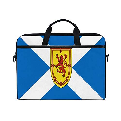Flag of Scotland Defaced with Royal Arms Laptop Case Computer Shoulder Bag Notebook Tablet Crossbody Briefcase Messenger Sleeve Handbag with Shoulder Strap Handle for Women Men Girls Boys 14 15 inch (Royal Bank Of Scotland Isle Of Man)