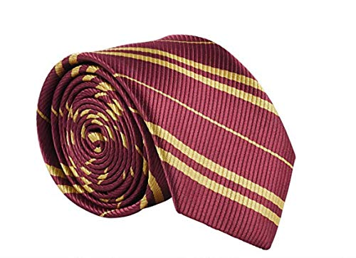 Halloween Costumes With Ties (Besmon Halloween Cosplay Tie for Harry Tie Birthday Party Christmas Party Daily Use - Hand Make Striped Necktie As The Best Gift for)