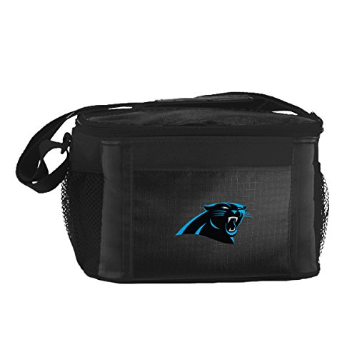Nfl Carolina Panthers Insulated Lunch Cooler Bag With Zipper Closure  Black