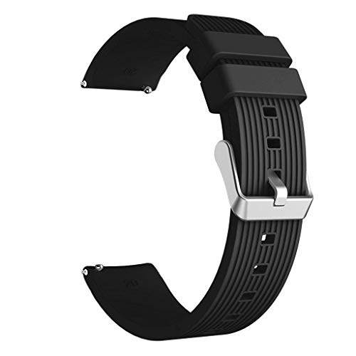 (Clearance! Sports Soft Silicone Watch Band for Samsung Galaxy Watch Active Women Men Replacement Wrist Straps 20mm x 220mm)