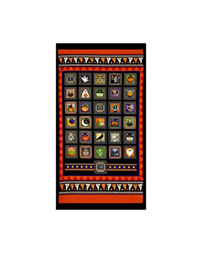 Creepy Hollow Halloween Patch 24 In. Fabric Panel (Halloween Panels For Quilting)