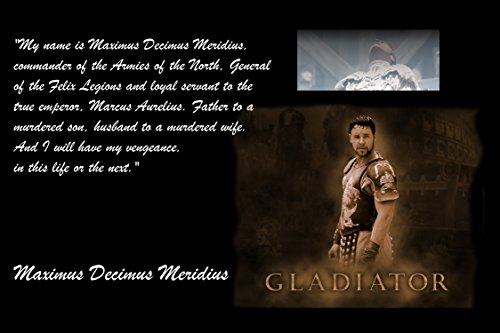 XXL Poster The Gladiator Russell Crow My Name Is Maximus Decimus Meridius, Commander Of