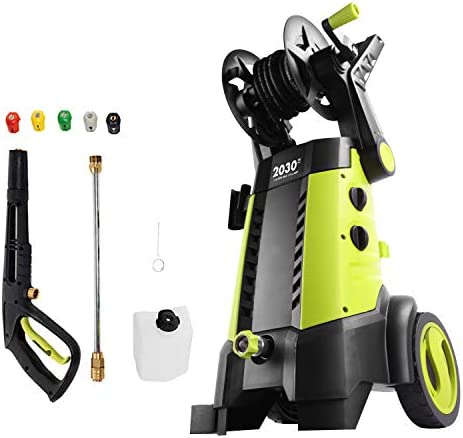 Sun Joe SPX3001 2030 PSI 176 GPM 145 AMP Electric Pressure Washer with Hose Reel Green
