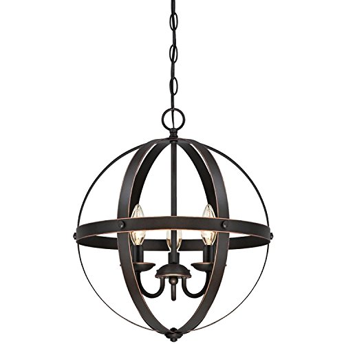Westinghouse Stella Mira Indoor Chandelier, with Highlights (Oil Rubbed Bronze Three-Light)
