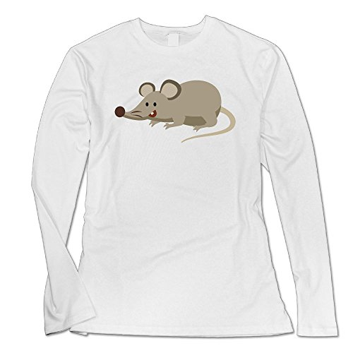Dawn Hilary Keats Stupid Little Mouse Custom Women's Blank Long Sleeve Custom Cotton T Shirts Top White S