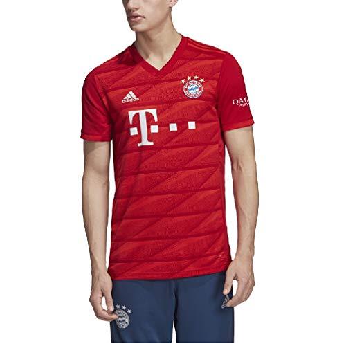 2cb217ca8bd17 adidas Men's Bayern Munich Home Jersey 2019-2020 (Large) FCB True Red