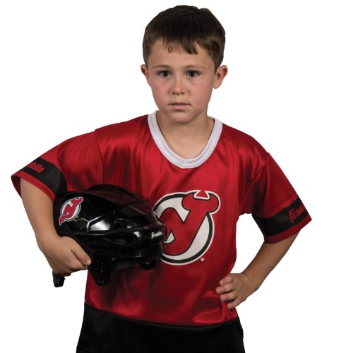 [Franklin Sports NHL New Jersey Devils Youth Team Uniform Set] (Kids Halloween Devil Costumes)