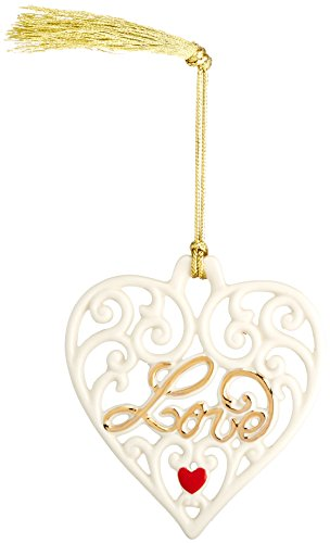 Heart Lenox (Lenox 869915  Gifts Love Pierced Heart Ornament)
