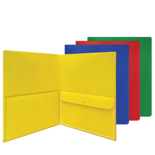 Smead Campus.org®, Two Pocket File Folder, Security Envelope, Poly, Letter Size, Assorted Colors, 48 per Carton (Poly Security Envelope)