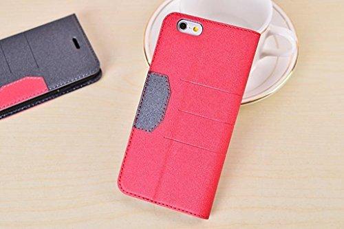 JIALUN-carcasa de telefono para el iPhone 6 más y 6s más, colores mezclados Brillando Sparkles patrón de cierre magnético PU cubierta de la caja de cuero con Kickstand y ranura para tarjetas ( Color : White