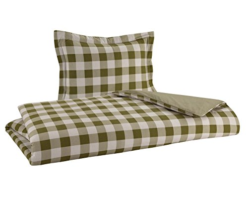 FLANNEL REVERSIBLE DUVET SET 100% Cotton Brushed on both sides. Set includes 1 Duvet Cover 68