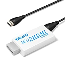 YOHOOLYO Adapter Wii to HDMI Converter with 3 Feet HDMI Cable for Wii Dispaly Modes to 720P/1080P HDTV 3.5mm Headpone Jack for Headset and Speakers