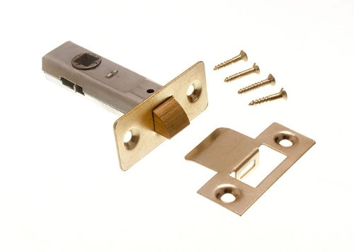 100 X Tubular Mortice Latch Door Lock Catch 63Mm Eb With Screws by DIRECT HARDWARE