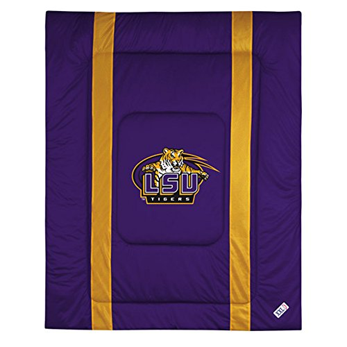 - NCAA Louisiana State Tigers King Bed Comforter Sidelines LSU College Team Logo Bedding