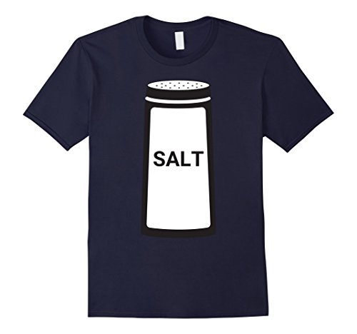 Unique Homemade Couples Halloween Costumes (Mens Salt Shaker Funny Couples Halloween T-Shirt XL Navy)