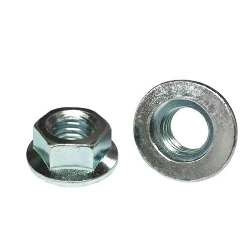 M10-1.5 Hex Flange Nuts Class 10 Zinc 100
