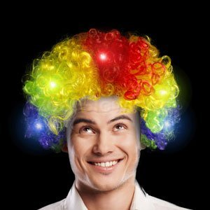 Led Afro Wig - Multicolor Light Up Afro Wigs 2