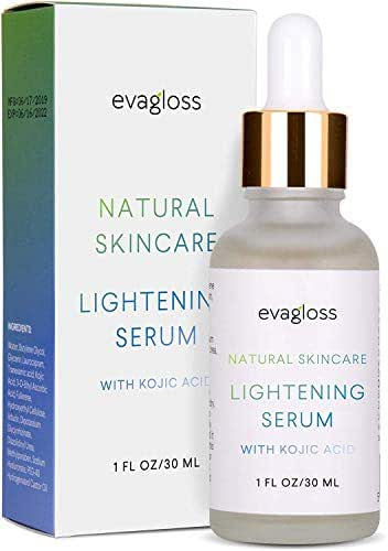 Evagloss Lightening Serum with Kojic Acid, Dark Spot Corrector Remover for Face & Body 30ml