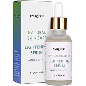 Evagloss Lightening Serum with Kojic Acid, Dark Spot Corrector Remover for Face & Body 30ml