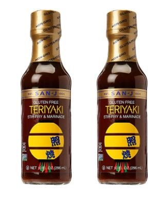 San-J Gluten Free Teriyaki Sauce, 10 oz (Pack of 2)