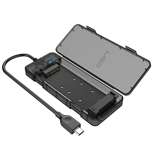 ineo USB 3.1 Gen 2 Type C Tool-Less M.2 SSD Enclosure 2280 2260 2242 2230 SSD Housing NGFF Case to USB3.1 gen 2 Type C Cable [C2575 M2]