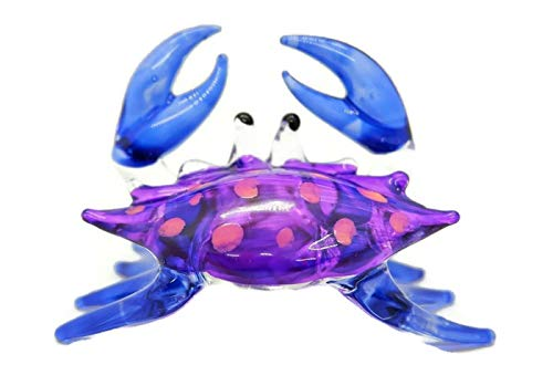 Hand Blown Art Glass,Crab Miniature Animals Collection, Dollhouse Miniatures,by Audomna Shop.(N0038)