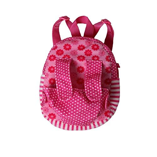 - Baby Doll Velour Plush Hot Pink Doll Small Backpack Carrier (Fits 13-16