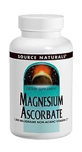 Source Naturals Magnesium Ascorbate 1000mg, Non-Acidic Vitamin C, 60 Tablets