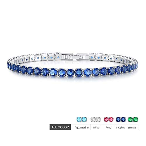 EEPIRR AAA+ Cubic Zirconia Friendship Tennis Bracelet 18K White Gold Plated Round Cut CZ Diamond Bracelets Crystal Jewelry Gifts for Women