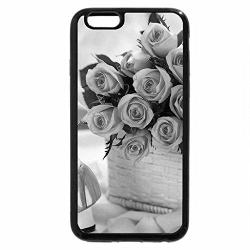 iPhone 6S Plus Case, iPhone 6 Plus Case (Black & White) - Beautiful roses bouquet