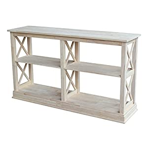 Great International Concepts Hampton Sofa Server Table With Shelves