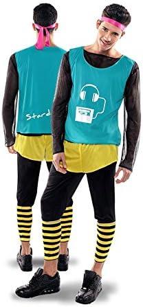 Disfraz de Aerobic ochentero verde para Hombre: Amazon.es ...