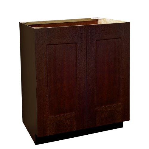 Shaker Panel Door Style Vanity Sink Base with Full Height Doors 30