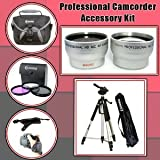 Digital Professional Camcorder Accessory Kit For The Canon VIXIA HF21 Dual Flash Memory Camcorder - Includes Wide Angle Macro and 2.5x Telephoto Zoom Lenses, 3 Piece Filter Kit (UV, Fluorescent, Polarizer), PRO 72 Inch Tripod, Carrying Soft Case, PLUS Our Exclusively ClearMax Designed Yellow Bendy Flexpod